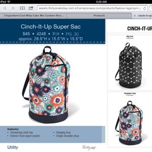 Thirty-one Cinch-it-up super sac